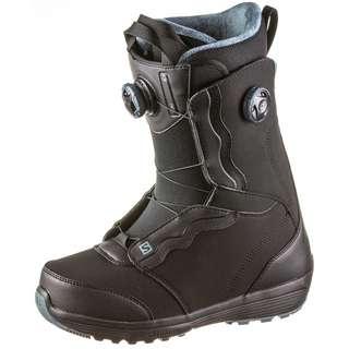 Salomon IVY BOA SJ BOA Snowboard Boots Damen black-black-stormy weather