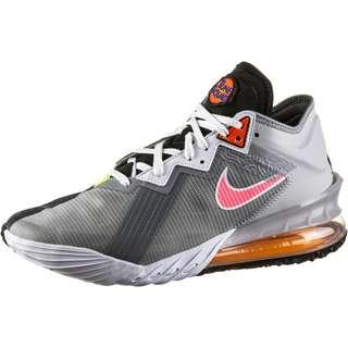 Nike Lebron XVIII Basketballschuhe Herren lt smoke grey-sunset pulse-black-white