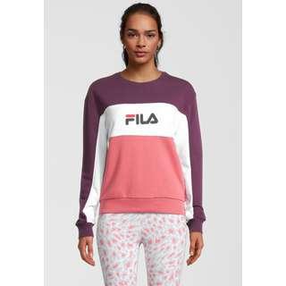FILA WOMEN AMINA blocked crew sweat Sweatshirt Damen baroque rose-winter bloom