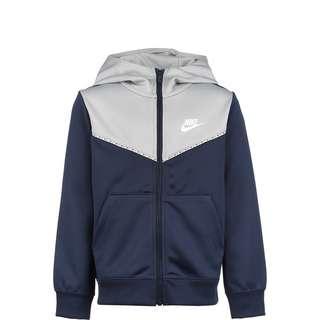 Nike Repeat Sweatjacke Kinder dunkelblau / hellgrau