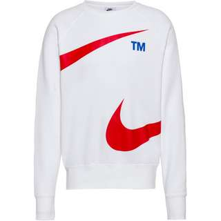 Nike NSW Swoosh Sweatshirt Herren white-university red