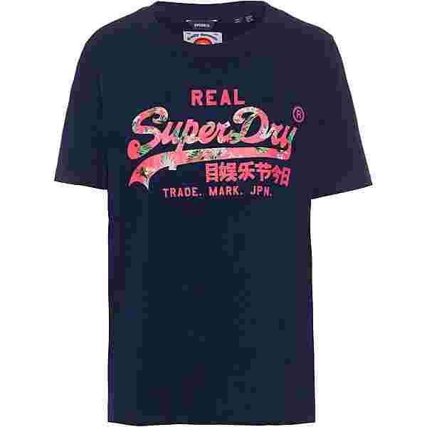 Superdry VL Infill T-Shirt Damen marrakesh midnight