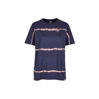 Cleptomanicx Dandada Printshirt Damen Dark Navy