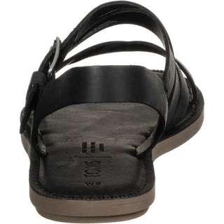 Toms Sicily Leder Sandalen Damen schwarz