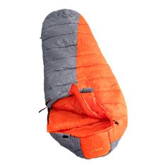 VAUDE Kamet Basic Kunstfaserschlafsack grau/orange