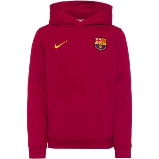 Nike FC Barcelona Hoodie Kinder noble red-varsity maize