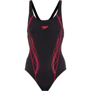 SPEEDO Panel Muscleback Schwimmanzug Damen black-psycho red