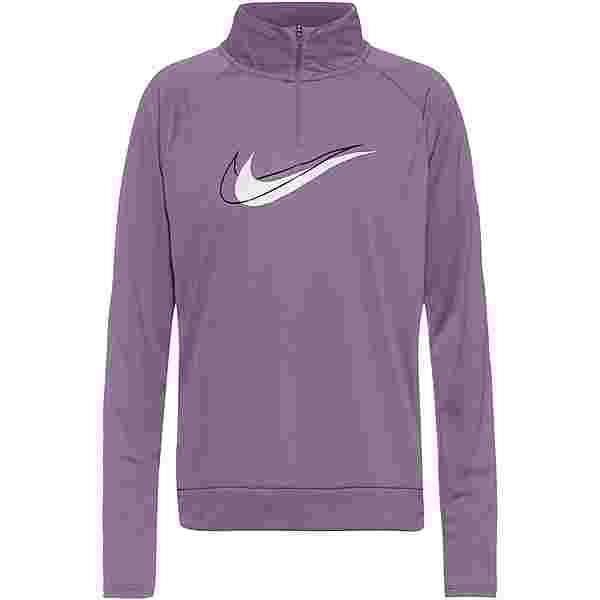 Nike Dri-FIT Swoosh Run Funktionsshirt Damen amethyst smoke-white