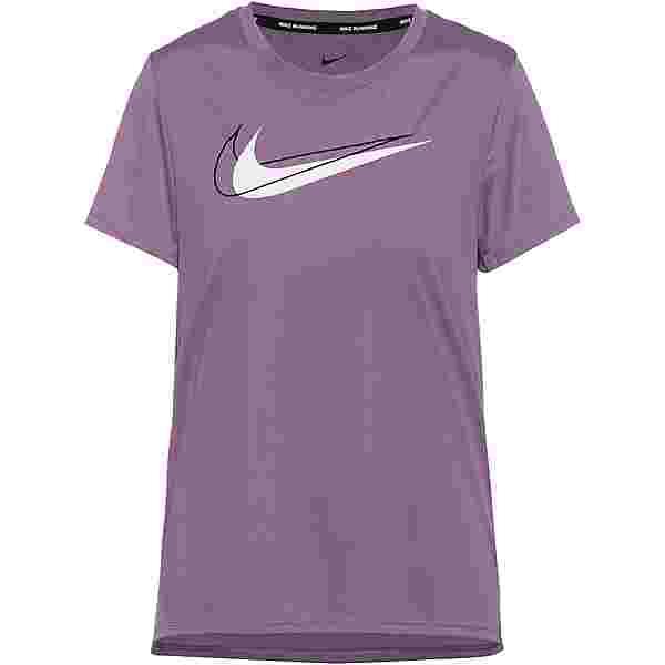 Nike Dri-FIT Swoosh Run Funktionsshirt Damen amethyst smoke-reflective silv