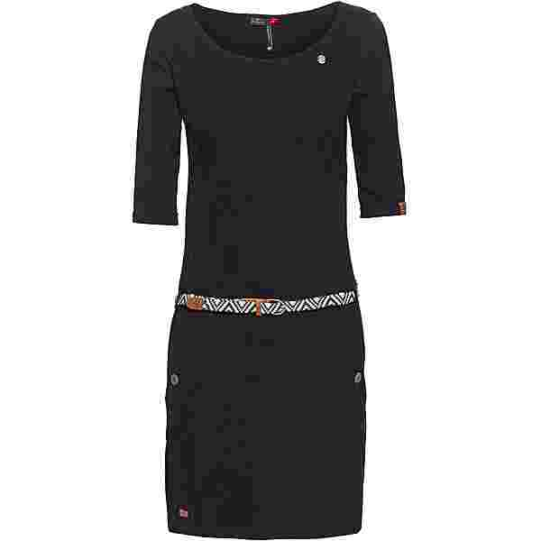 Ragwear Tanya Solid Jerseykleid Damen black