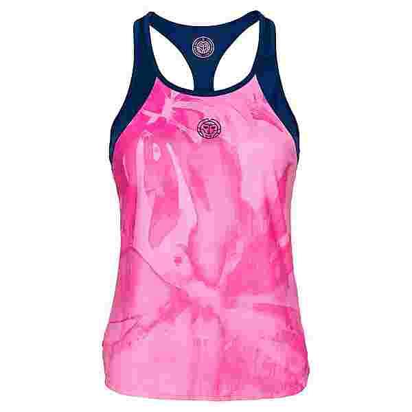 BIDI BADU Fleur Tech Tank Tennisshirt Damen dunkelblau/berry/rosa