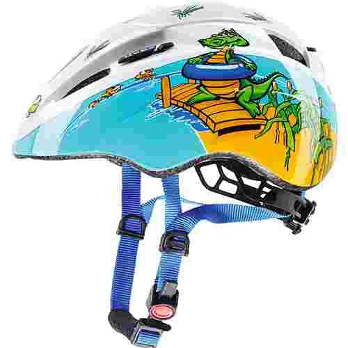 Uvex Kid 2 Fahrradhelm Kinder blau/weiß