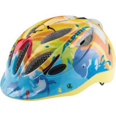 ALPINA Gamma Flash Fahrradhelm Kinder gelb/blau