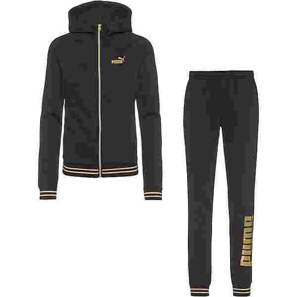 PUMA Gold Metallic Trainingsanzug Damen black