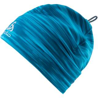 Odlo POLYKNIT WARM ECO PRINT Langlaufmütze deep dive stunning blue