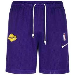Nike NBA Los Angeles Lakers Standard Issue Basketball-Shorts Herren lila / gelb