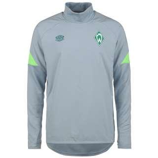 UMBRO SV Werder Bremen Drill Funktionssweatshirt Herren hellgrau / neongrün