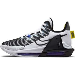 Nike Lebron Witness VI Basketballschuhe Herren white-black-persian violet-yellow strike
