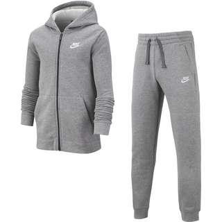 Nike NSW CORE Trainingsanzug Kinder carbon heather-dark grey-white
