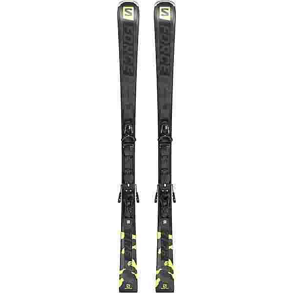Salomon Alp. Ski Set E S/FORCE Ti.76 SPORT+M Race Carver black-yellow