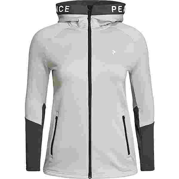 Peak Performance Rider Fleecejacke Damen med grey mel-motion grey
