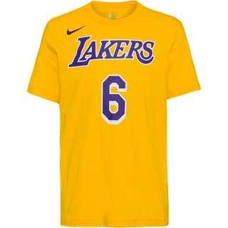 Nike James LeBron Los Angeles Lakers T-Shirt Herren amarillo-field purple
