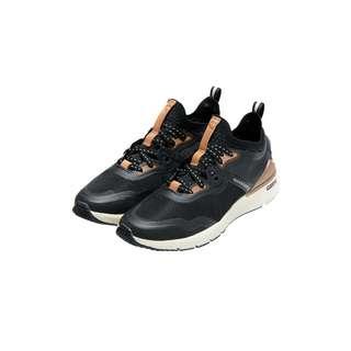 Cole Haan ZERØGRAND Overtake Sneaker Damen grey pinstripe black rose gold