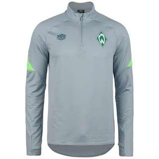 UMBRO SV Werder Bremen Half-Zip Funktionssweatshirt Herren hellgrau / neongrün