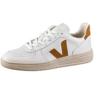 VEJA V-10 Sneaker extra white-camel