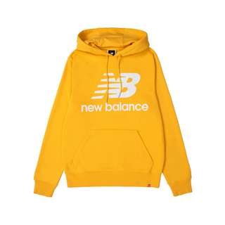 NEW BALANCE Essentials Stacked Logo Hoody Sweatshirt gelb