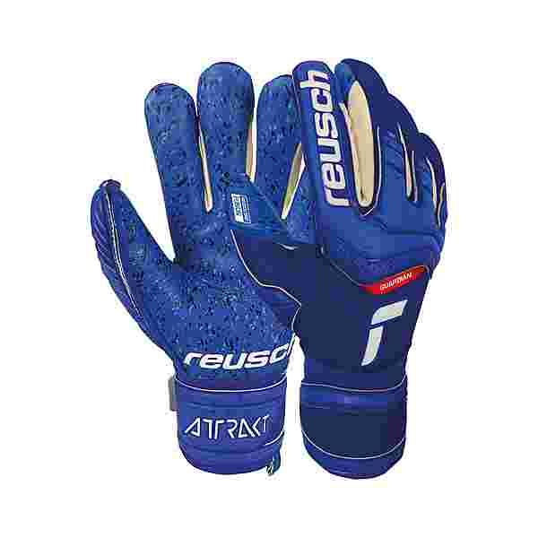 Reusch Attrakt Fusion Finger Support Torwarthandschuhe Kinder deep blue / deep blue
