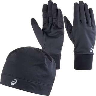 ASICS Set Mütze und Handschuhe performance black