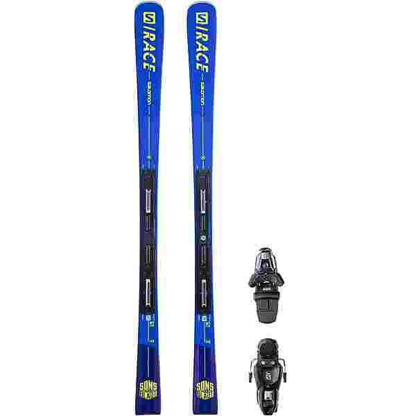 Salomon Alp. Ski Set E S/RACE MT + M11 GW L8 Race Carver blue-yellow