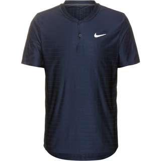 Nike Court Breathe Advantage Tennis Polo Herren obsidian-obsidian-white