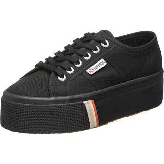 Superga 2790 Stripped Foxing Sneaker Damen schwarz