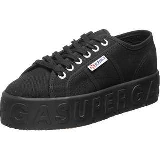 Superga 2790 3D Lettering Sneaker Damen schwarz