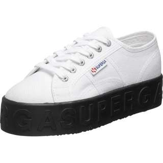 Superga 2790 3D Lettering Sneaker Damen weiß/schwarz