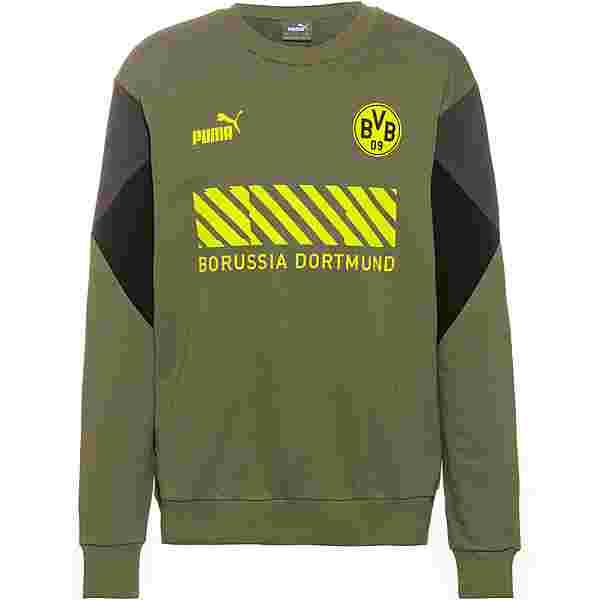 PUMA Borussia Dortmund Sweatshirt Herren olivine-safety yellow