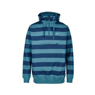 Cleptomanicx Hooded Stripe Kapuzenshirt Herren Blue Coral