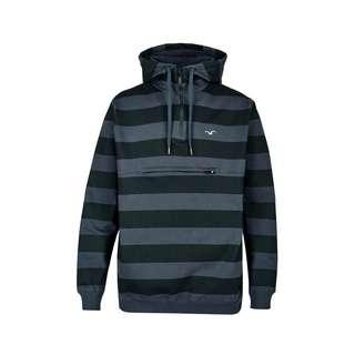 Cleptomanicx Hooded Stripe Kapuzenshirt Herren Blue Graphite