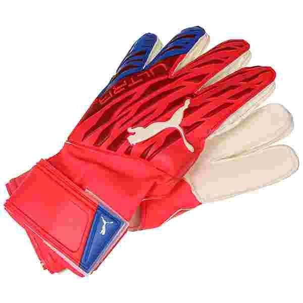 PUMA Ultra Protect 3 RC Torwarthandschuhe rot / weiß
