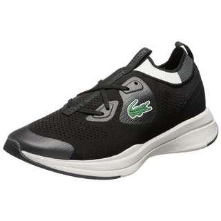 Lacoste Run Spin Knit Sneaker Herren schwarz / weiß