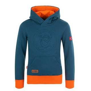 Trollkids Lillehammer Hoodie Kinder Mystik Blau / Orange