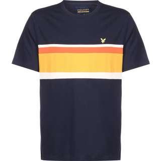 Lyle & Scott Panel T-Shirt Herren blau/gelb