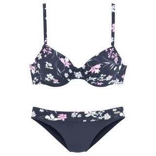 Lascana Bikini Set Damen marine-bedruckt