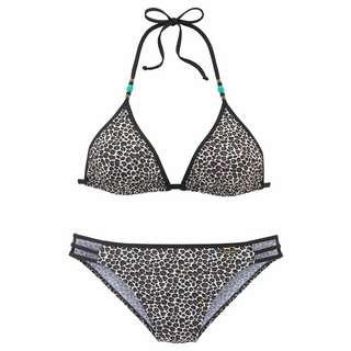 BRUNO BANANI Bikini Set Damen braun-weiß