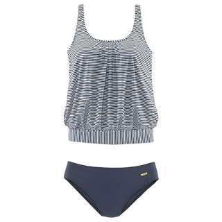 Lascana Bikini Set Damen marine-gestreift