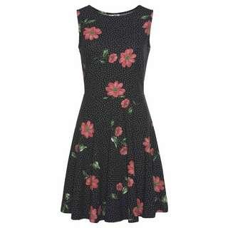 BEACH TIME Kleid Damen schwarz-rot