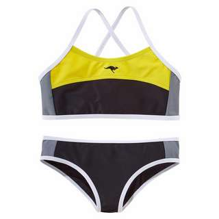 KangaROOS Bikini Set Damen schwarz-gelb