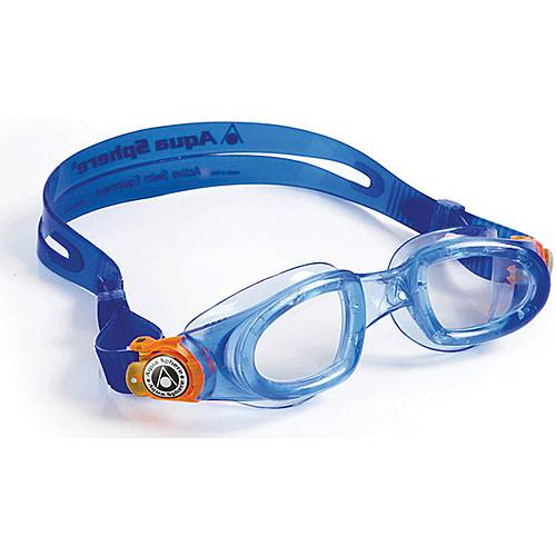 Aqua Sphere Moby Kid Schwimmbrille Kinder blau/orange